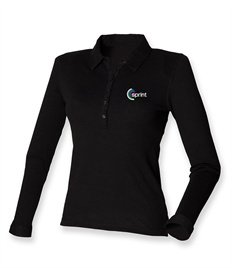 SF Ladies Long Sleeve Stretch Polo Shirt (Sprint Group)