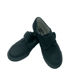 Velcro Plimsolls (Silver End)