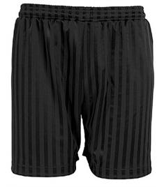 Plain Black P.E Shorts