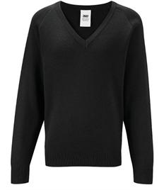 Black V Neck Knitted Jumper