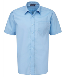 Boys Short Sleeve Sky Blue Shirts - Pack of 2