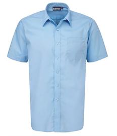 Boys Short Sleeve Sky Blue Shirts - Pack of 2